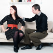 Stock Photo: Conflict between mand woman: offense