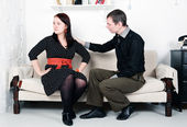 Conflict between man and woman: offense — Stock Photo
