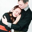 Man comforting his crying woman — Stock Photo #18852073