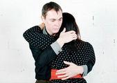 男人安慰他的女人 — 图库照片