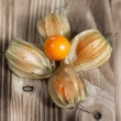 Royalty-Free Stock Photo: Physalis on the wooden background