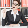Business woman have the idea — Foto Stock