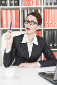 Business woman have the idea — Stock Photo