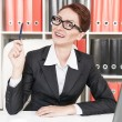 Happy business woman have the idea — 图库照片