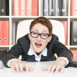 Crazy business woman — Stock Photo #29943541