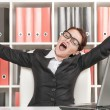 Business woman yawning — Stock Photo