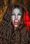 Screaming vampire — Stock Photo