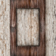 Stock Photo: Aged wooden frame on old wood