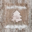Christmas fir-tree made of birch bark — Stock Photo