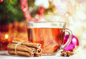 Christmas tea and spices — Stock Photo