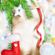 Christmas card with holiday decor — Stock Photo #36923795