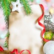 Christmas card with holiday decor — Stock Photo #36923799