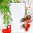 Christmas card with holiday decor — Stock Photo #37169639