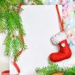 Christmas card with holiday decor — Stock Photo #37169641