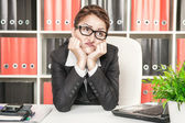 Boring office worker — Stock Photo