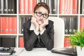 Boring office worker — Stock Photo