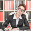 Serious business woman thinking — Stock Photo