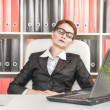 Stock Photo: Business womsleeping in office