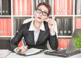 Business woman having idea — Stock Photo