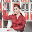 Business woman having idea — Stockfoto