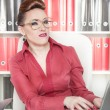 Business woman with a suspicious expression — Stock Photo #41341267