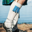 Legs of min scottish kilt — Stock Photo #41543671
