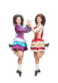 Irish dancers in hard shoes dancing — Стоковое фото