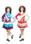 Irish dancers in hard shoes — Foto de Stock