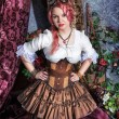 Beautiful steampunk woman — Stock Photo