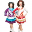 Irish dancers in hard shoes — Stock Photo