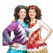 Happy Irish dancers — Stock Photo