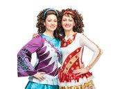 Happy Irish dancers — ストック写真
