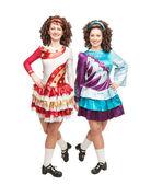 Irish dancers in hard shoes — Stockfoto