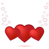 Valentine day card with heart — Stock Photo