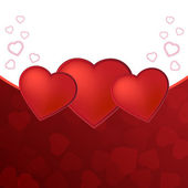 Valentine day card with hearts — Stock Photo
