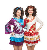 Irish dancers — Stock Photo