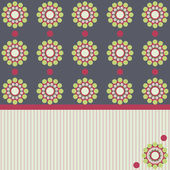 Circles retro style pattern with place for text — Stockfoto