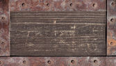 Old wood texture with metal elements — Stock Photo