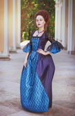 Beautiful woman in medieval dress  — Stock Photo