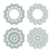 Set of vector guilloche rosettes — Stock Vector