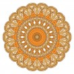 Vector round decorative design element — Stock Vector #14716689