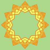 Elemento de diseño decorativo redondo del vector — Vector de stock