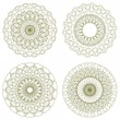 Set of vector guilloche rosettes — Stock vektor #18612499