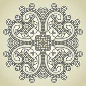Vector square decorative design element — Stock Vector