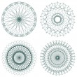 Set of vector guilloche rosettes — Vettoriali Stock