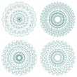 Set of vector guilloche rosettes — Vector de stock