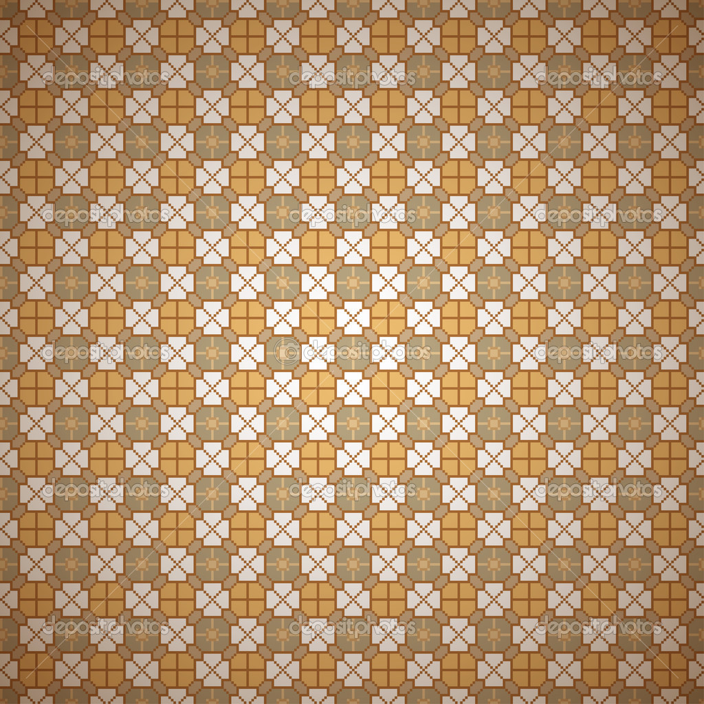 无缝炫彩复古花纹背景,矢量图 eps10,包含透明对象 — 矢量图片作者