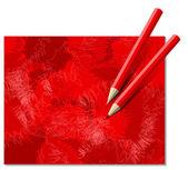 Dwa czerwone kredki — Wektor stockowy