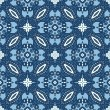 Stok Vektör: Seamless Blue Retro Pattern Background