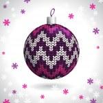 Knitted Christmas Ball — Stock Vector #29032519